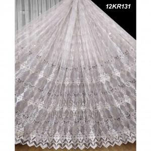 Тюль 12KR131  кордовая вышивка