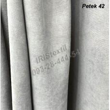 Портьера PETEK #42 микровелюр (СЕРЫЙ СВЕТЛЫЙ)